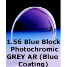 1.56 Blue Block Photochromic GREY AR (Blue Coating)